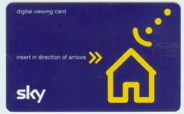 Sky TV viewing card (November 2003)