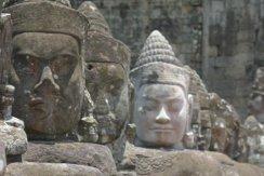 Gate guard statues at Angkor Thom South Gate
