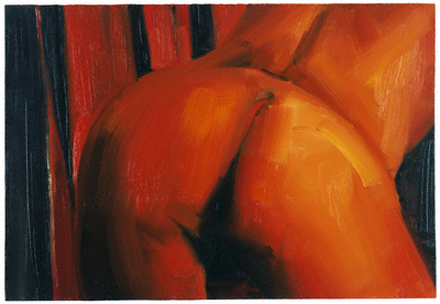 "Gillian Carnegie, ""Red"" 2004. Oil on board. 22.8 x 33 cm. Cranford Collection, London."