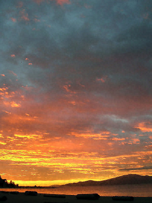 Sunset photographed somewhere near Montreal, Canada