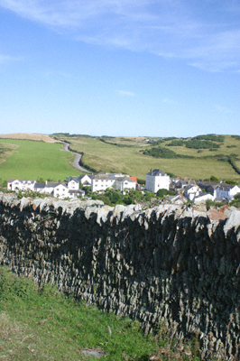 Mortehoe village in North Devon