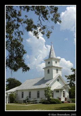 A church near Savannah in Georgia, USA