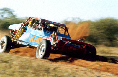 Car in the Toyota 1,000 km Desert Race 2002 in the Kalahari Desert