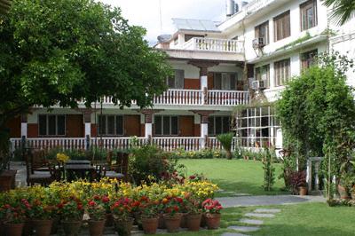 Courtyard garden at the Kathmandu Guest House in Nepal