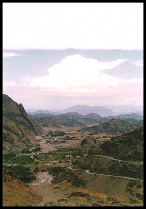 View of the Khyber Pass between Pakistan and Afghanistan