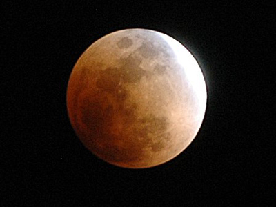 The Moon entering Earth's shadow during a total lunar eclipse