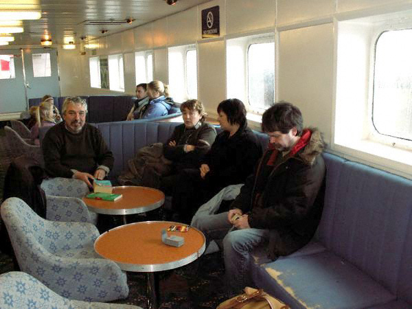 On board the Claymore ferry en route to Orkney