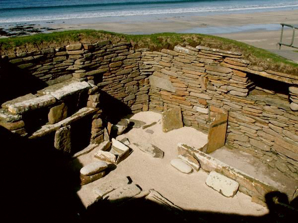 The Stone Age settlement at Skara Brae on Orkney's Mainland