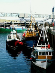 Boats in the harbour at Stromness, Orkney's second town