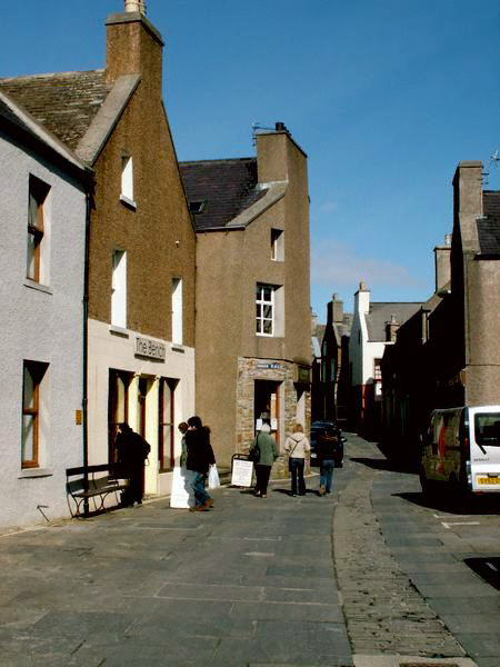 Stromness's narrow streets