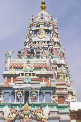 Sri Mariamman Hindu temple in Georgetown's Little India on Penang Island