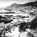 ANZAC Cove during the Gallipoli expedition, 1915