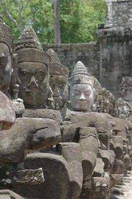 Demons guard Angkor Thom's South Gate at the Angkor Wat complex