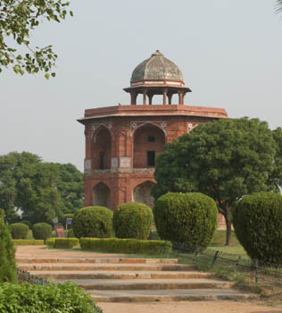 Sher Mandal tower at the Purana Qila (Old Fort), Delhi