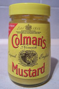 A jar of Colman's Mustard