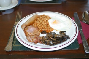 A rather mean little breakfast from the Fortescue Arms in Woolacombe, North Devon