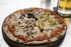 A Quattro Stagioni pizza