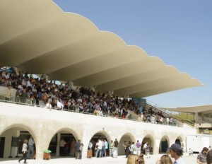 The Art Deco grandstand at Madrid's Zarzuela racecourse