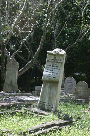 The Christian cemetery in Georgetown, Penang