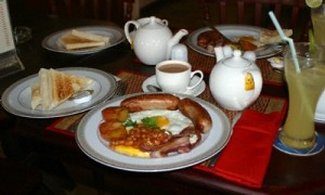 A full breakfast at Molly Malone's in Siem Reap