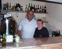 John and Trish, proprietors of the Celtic Cross bar near Jumilla, Spain