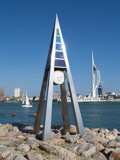 A view across the Solent to Portsmouth's Spinnaker Tower