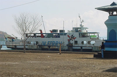 Lombok-Sumbawa ferry at the quayside