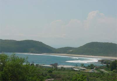 Beach view from Yoyo's Hotel in southwestern Sumbawa, Indonesia