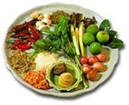 A plateful of Thai ingredients