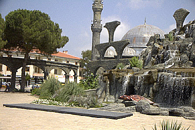 Fake ruins near the town of Belek on the Turkish Riviera
