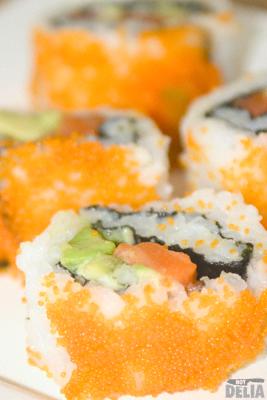 """Uramakizushi - """"California"""" sushi rolls"""