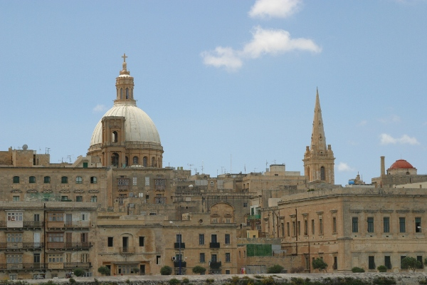 The skyline of Valletta, Malta's capital