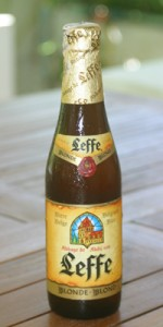 A bottle of Leffe Blond beer