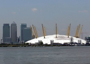 The O2 (formerly the Millennium Dome) in Greenwich, London