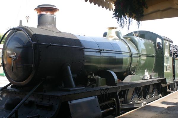 Locomotive at Washford station on the West Somerset Railway