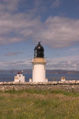 Dunnet Head Lighthouse, the Pentland Firth and the island of Hoy