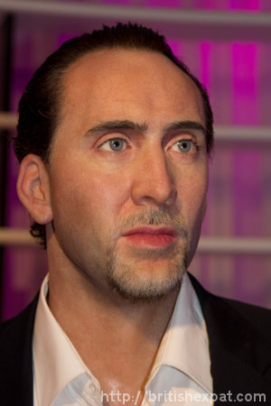 A waxwork of Nicolas Cage at Madame Tussauds in Bangkok