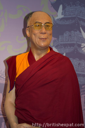 Waxwork of the Dalai Lama at Madame Tussauds in Bangkok