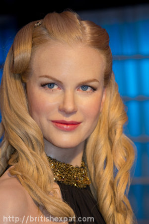A waxwork of Nicole Kidman at Madame Tussauds in Bangkok