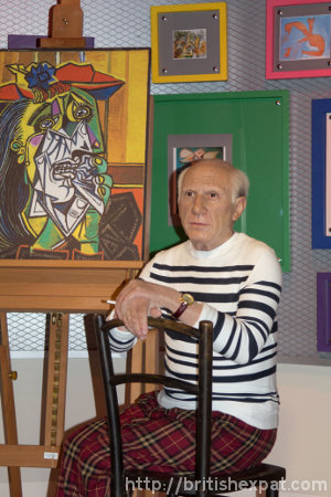A waxwork of Pablo Picasso at Madame Tussauds in Bangkok
