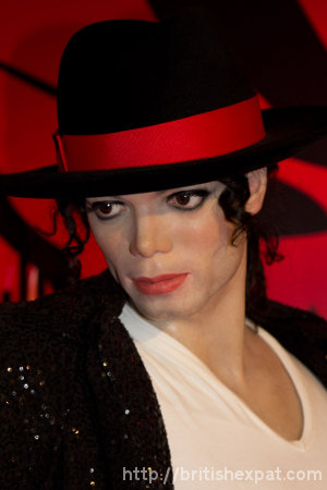 Waxwork of Michael Jackson at Madame Tussauds in Bangkok