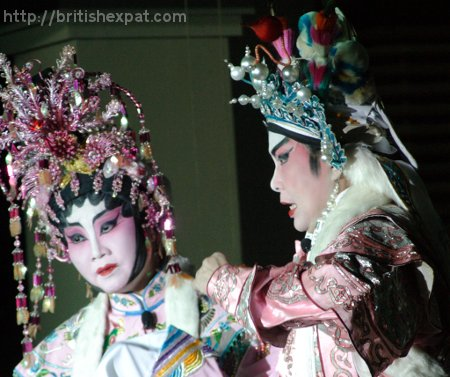 A duo of Cantonese opera singers