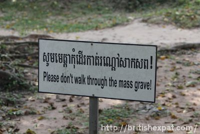Mass grave at Choeung Ek killing field