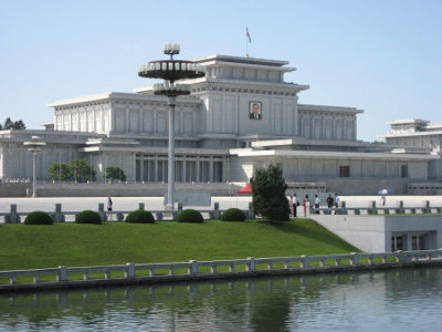 Kumsusan Memorial Palace in Pyongyang