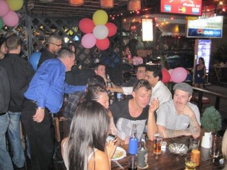 A party in full swing at the Pickled Liver pub in Bangkok