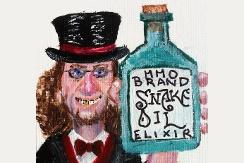 Snake oil seller