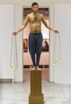 """Equilibrium"" by performance artist Andreas Pashias"