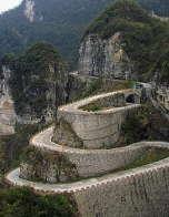 Winding mountain road in Zhangjiajie, Hunan Province, China