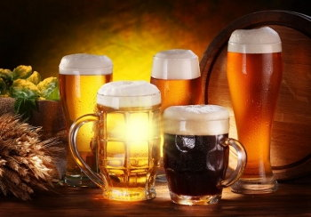 Beers and ales with grain and hops