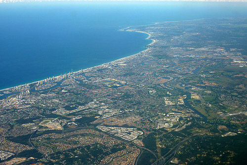 Aerial view of Gold Coast, QLD